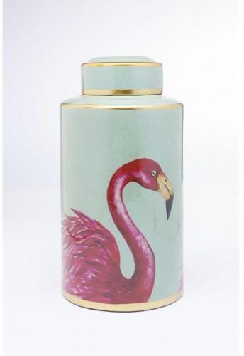 Dekoratívne dóza Kare Design Flamingos, výška 39 cm