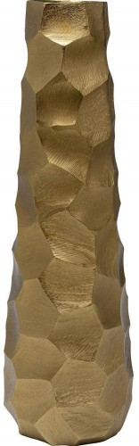 Hliníková váza v zlatej farbe Kare Design Aria, výška 60 cm