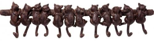Hnedý nástenný vešiak Kare Design Cats