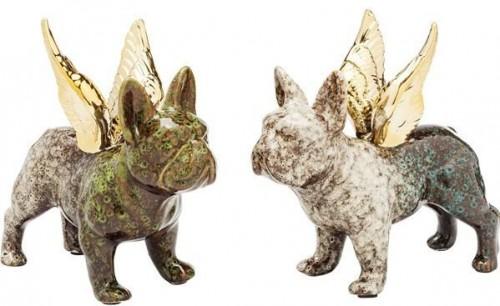 KARE DESIGN Dekoratívna figúrka Angel Wings Dog - viac variantov