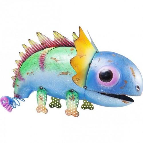 KARE DESIGN Dekoratívna figúrka Dino Blue Head