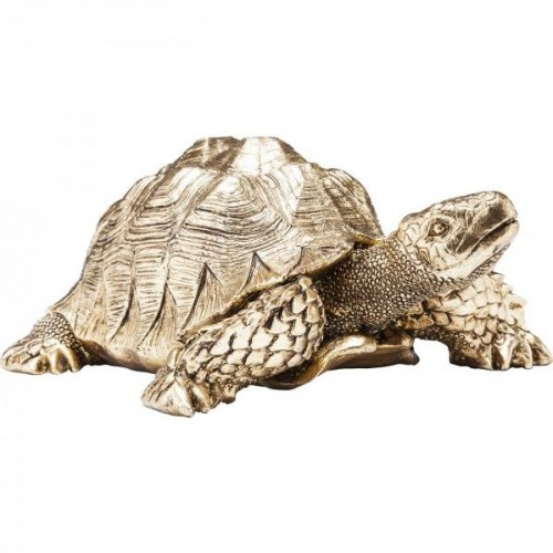 KARE DESIGN Dekoratívna figúrka Turtle Gold Small