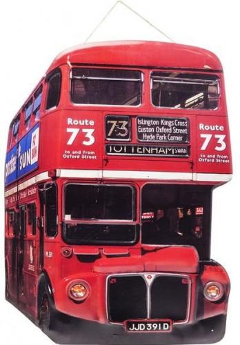 KARE DESIGN Nástenná dekorácia Tottenham Bus