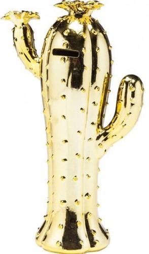 KARE DESIGN Pokladnička Cactus Desert Blossom Gold 30 cm