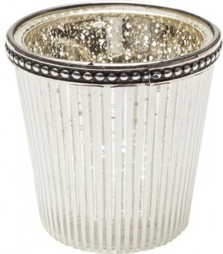 KARE DESIGN Sada 2 ks − Svietnik na čajovú sviečku Polar Stripes 8 cm