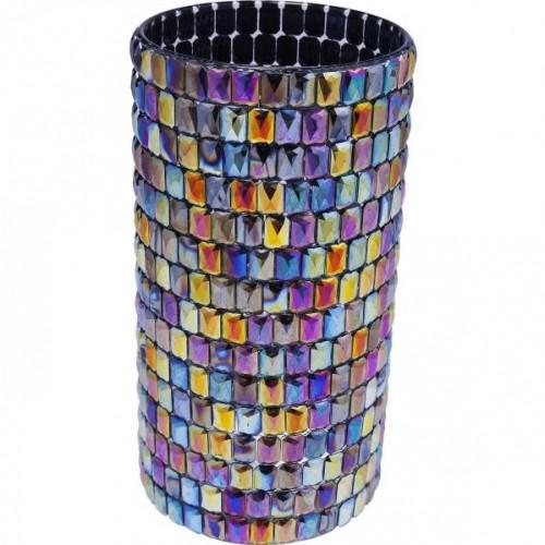 KARE DESIGN Sada 2 ks − Váza Rainbow Diamonds Round 22 cm