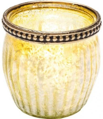 KARE DESIGN Sada 4 ks − Svietnik na čajovú sviečku Medina 7 cm - zelený