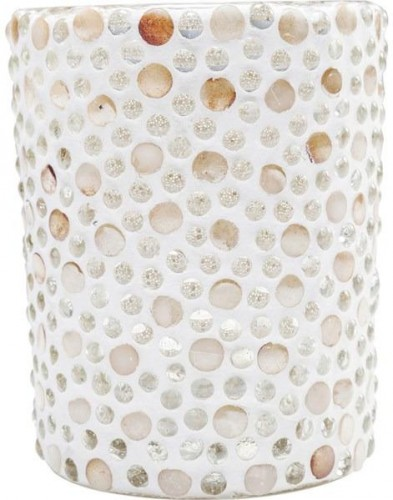 KARE DESIGN Sada 4 ks − Svietnik na čajovú sviečku Pearls - veľký