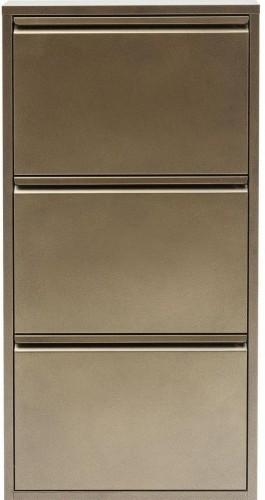 Kovová skrinka na topánky v bronzovej farbe Kare Design Caruso
