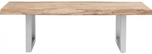 Lavica s doskou z akáciového dreva Kare Design Nature, 140 × 45 cm
