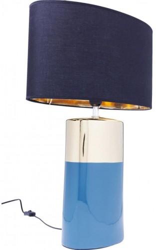 Modrá stolová lampa Kare Design Zelda, výška 63,5 cm