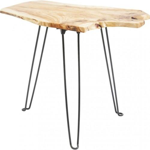 Odkladací stolík s doskou z jedľového dreva Kare Design Art Factory
