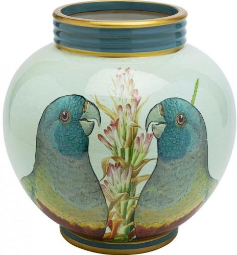 Porcelánová dekorácie Kare Design Parrot Couple, priemer 25 cm