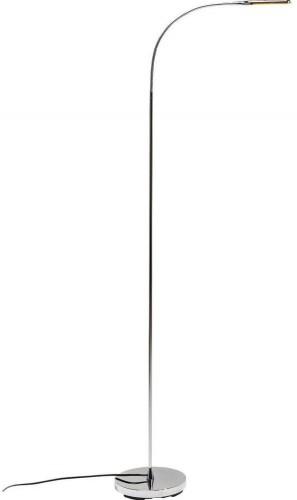 Stojacia lampa v chrómovej farbe Kare Design Literature