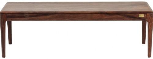 Tmavá lavica zo sheesamového dreva Kare Design Brooklyn, 140 cm