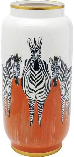 Váza Kare Design Orange Zebras, výška 39 cm