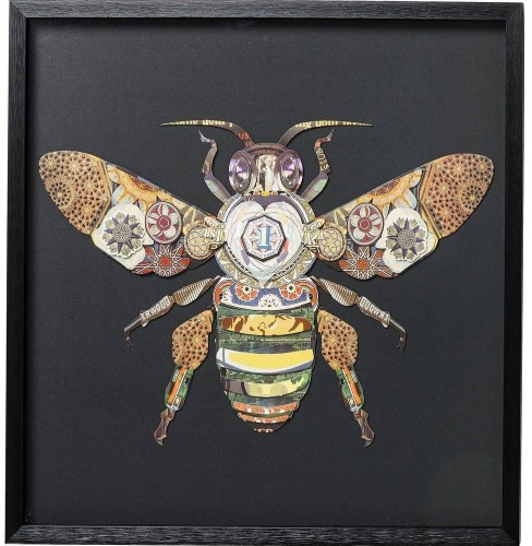 Zarámovaný obraz Kare Design Bee, 60 x 60 cm