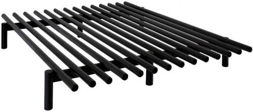 Čierny rám postele z borovicového dreva Karup Design Pace Black, 140 × 200 cm