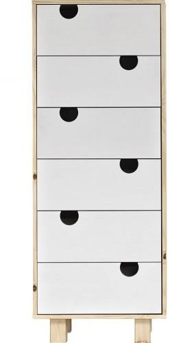 Komoda so šiestimi zásuvkami Karup Design House Natural/White