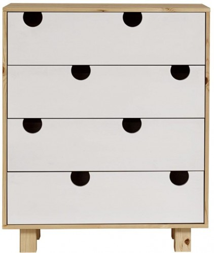 Komoda so štyrmi zásuvkami Karup Design House Natural/White