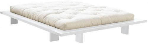 Posteľ z borovicového dreva v japonskom štýle Karup Design Japan White, 140×200 cm
