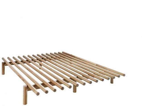 Rám postele z borovicového dreva Karup Design Pace Natural, 140 × 200 cm