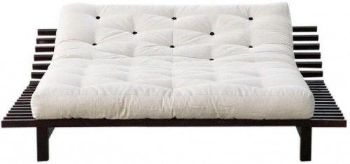 Rozkladacia posteľ z borovicového dreva Karup Design Blues, 140×200 cm
