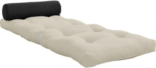Variabilný béžový skladací matrac Karup Design Wrap Beige/Dark Grey