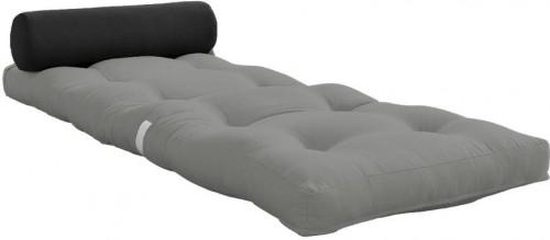 Variabilný sivý skladací matrac Karup Design Wrap Grey/Dark Grey