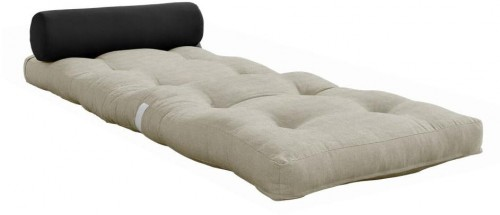 Variabilný skladací matrac Karup Design Wrap Linen/Dark Grey
