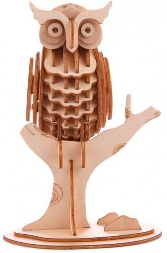 3D puzzle z balzového dreva Kikkerland Owl