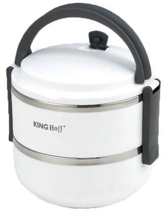 Dóza na potraviny KINGHOFF 2165, 1400ml, biela