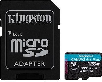 Kingston Canvas Go! Plus microSDXC 128GB + SD adaptér