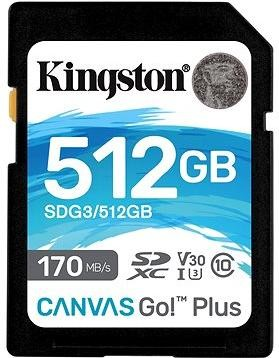 Kingston Canvas Go! Plus SDXC 512GB + SD adaptér
