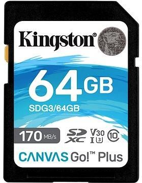 Kingston Canvas Go! Plus SDXC 64GB + SD adaptér