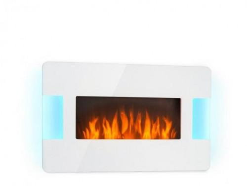 Klarstein Belfort Light & Fire, elektrický krb, 1000/2000 W, diaľkový ovládač, biely
