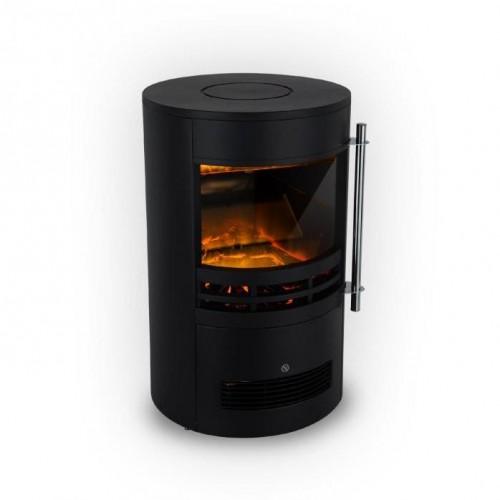 Klarstein Brixen, elektrický krb, 900/1800 W, InstaFire, termostat, čierny