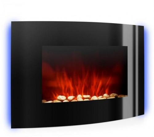 Klarstein Lausanne, elektrický krb, 2000 W, LED plamene, diaľkový ovládač, čierny