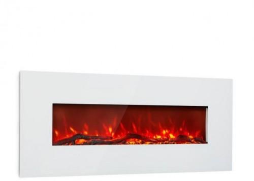 Klarstein Lausanne Long, elektrický krb, 1600 W, 2 vykurovacie úrovne, 128 cm, biely