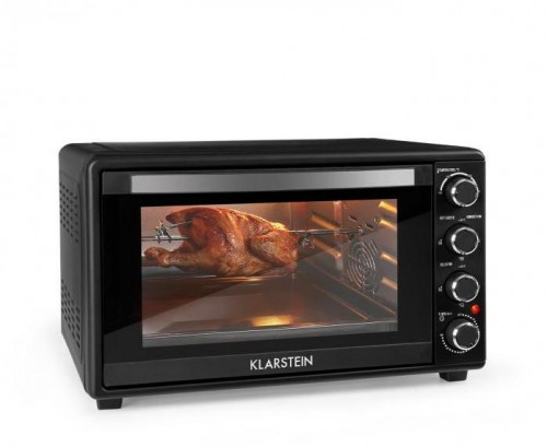 Klarstein Masterchef 60, mini rúra, 60 l, 2000 W, 100 – 230 °C, časovač, čierna