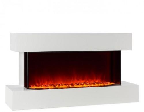 Klarstein Studio-2, elektrický krb, LED simulácia plameňa, 1000/2000 W, 40 m², biely