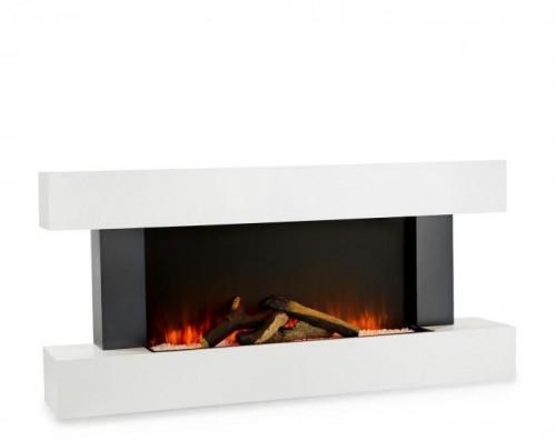 Klarstein Studio Light & Fire 1, elektrický krb, 1000/2000 W, MDF, diaľkový ovládač, biely