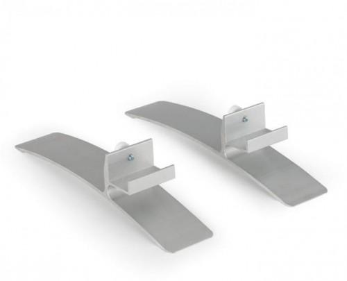 Klarstein Wonderwall Stand, nožičky, pár, príslušenstvo k vykurovacím panelom, hliník