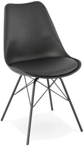 Čierna jedálenská stolička Kokoon Fabrik
