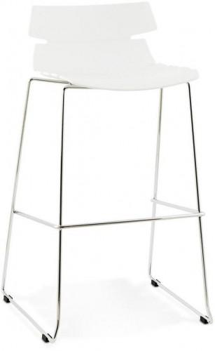 Moderná barová stolička Brayden biela