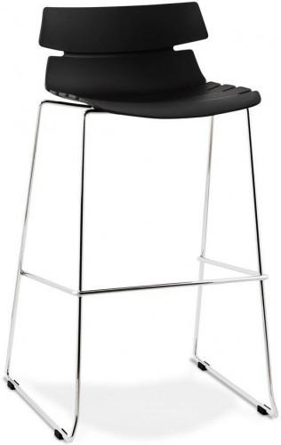 Moderná barová stolička Brayden čierna
