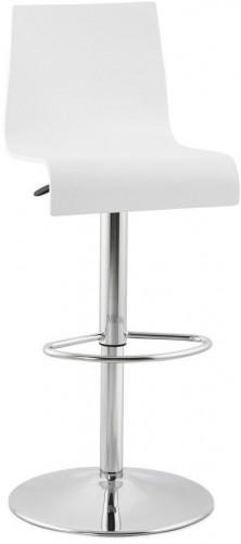 Moderná barová stolička Cameron biela