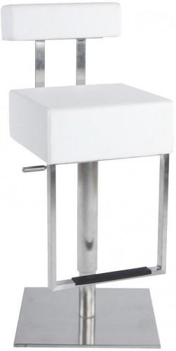 Moderná barová stolička James biela