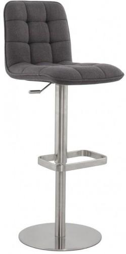 Moderná barová stolička Nathan šedá