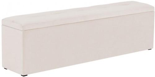 Béžový otoman k posteli s úložným priestorom Kooko Home, 47×140 cm